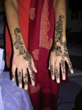 Тату хной свадебные на пальцах