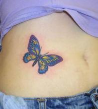 женская татуировка бабочка
